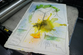 Ralph Steadman - Original painting produced in the studio
