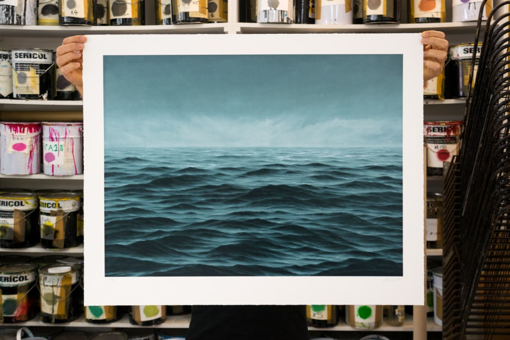 'South Atlantic' - Jake Aikman, 15 layer screenprint, 2018