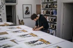 Ernest Zacharevic in the studio - 2018
