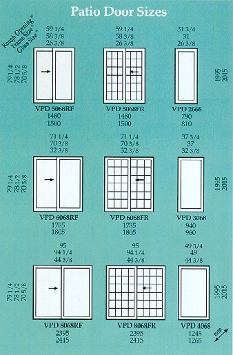 Patio Door Sizes