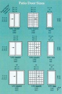 Patio Door Sizes