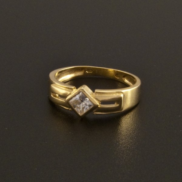Gold Ring Zirkonia  goldpointshopde