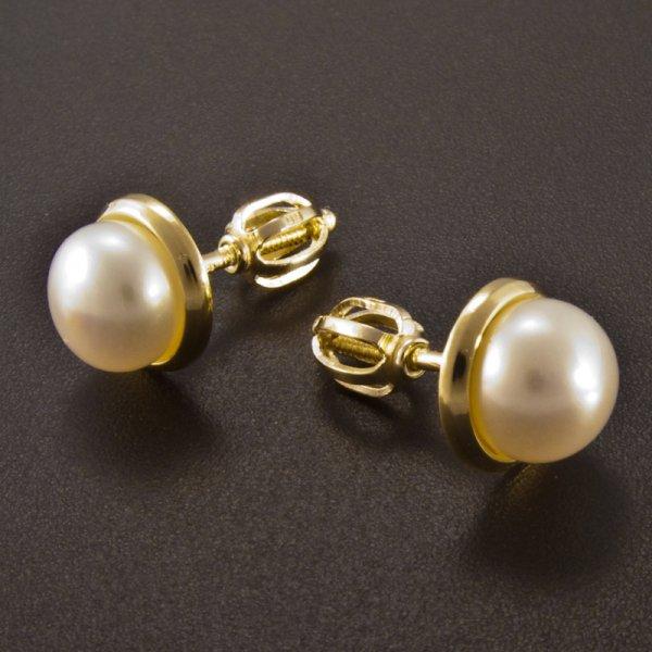 Gold Ohrringe Perlen  goldpointshopde