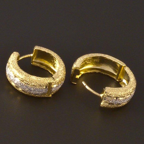 Gold Ohrringe Kreis  goldpointshopde