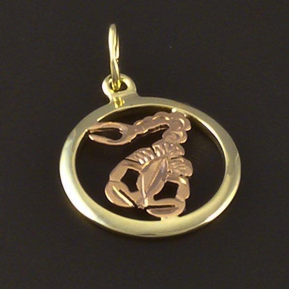 Gold Anhnger Sternzeichen Skorpion  goldpointshopde