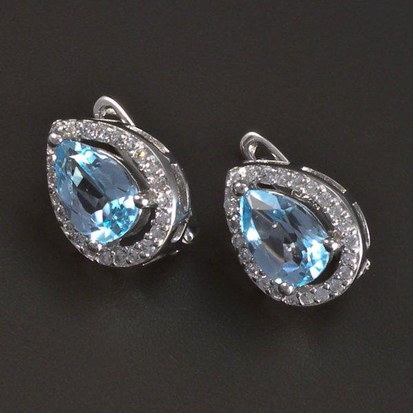Silber Ohrringe Aquamarin  goldpointshopde