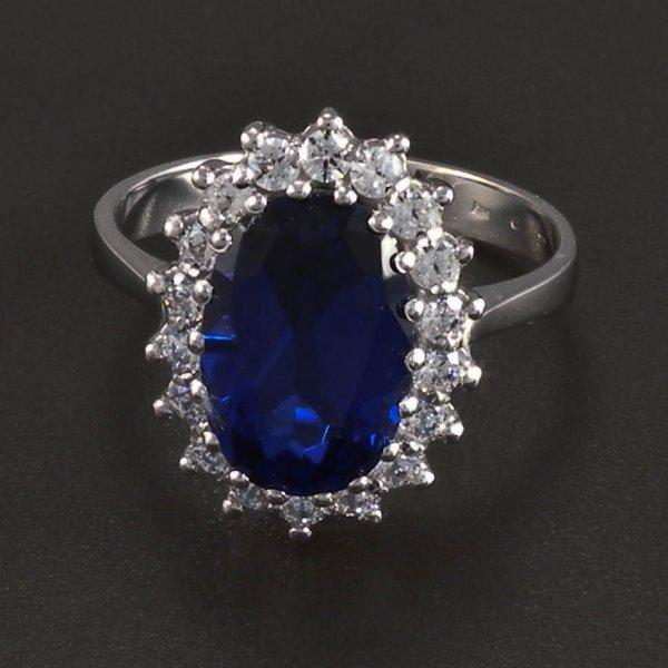Weigold Ring mit Saphir goldpointshopde