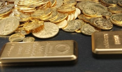 Goldmünzen. Goldbarren (Foto: Goldreporter)