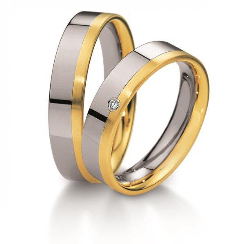 Breuning Basic Trauringe aus Gold oder Platin 5mm 04063 1