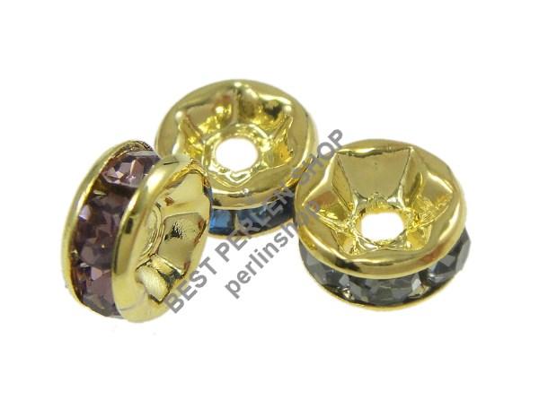 high chair aldi overstock accent 35 metallperlen crystal mehrfarbig strass ring metall spacer beads 8mm r172b | ebay