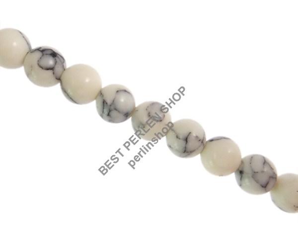 Natrliche Streifen Achat Perlen Kugel Matte Blau 6mm