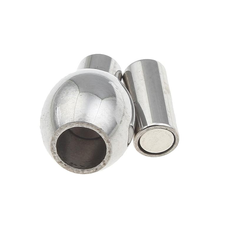 Magnetverschluss Edelstahl Verschluss fr 3mm Bnder
