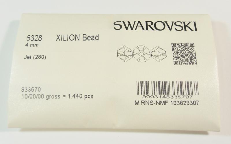 40 JET 4mm cristallo Swarovski perle 5301 5328 doppio cono Bicone rhomben  eBay