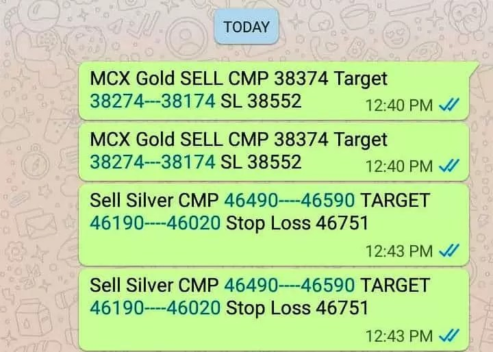 Gold Silver Trading Tips Today
