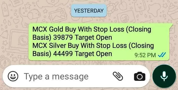 MCX Gold Silver Tips
