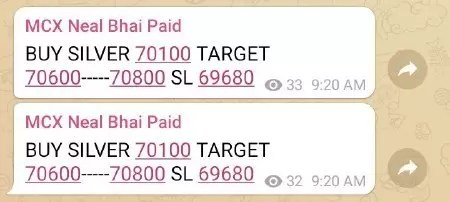 Silver MCX Today Tips