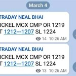 Nickel MCX Tips Today