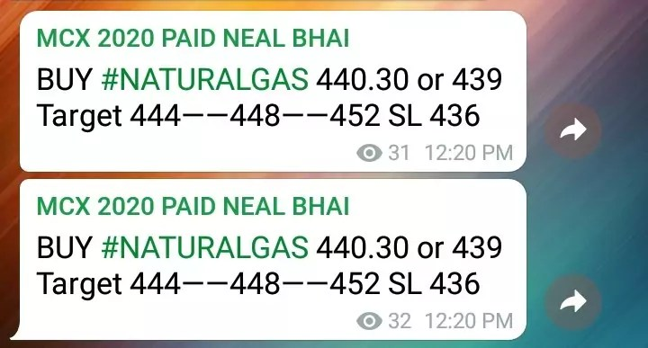 MCX Natural Gas Tips Today