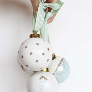 DIY Painted Ornaments by Gold Standard Workshop