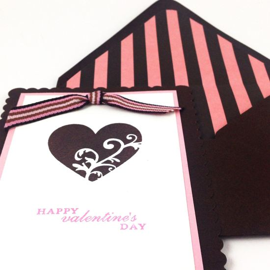 DIY Valentine Stamped Card
