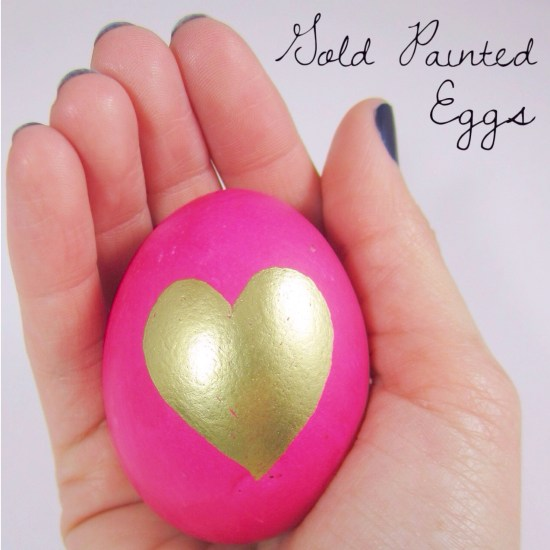 DIY Gold Painted Egg 6