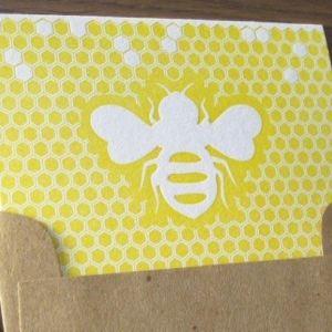 Paisley Dog Bee Card