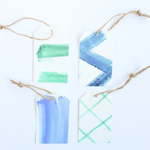 Wrapping Tips: DIY Watercolor Gift Tags