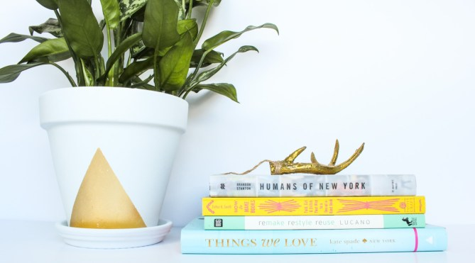 DIY Triangle Gold Foil Planter by Gold Standard Workshop