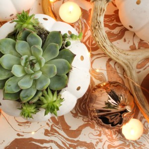 DIY Easy Fall Centerpiece by Gold Standard Workshop