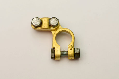 Angle Forged Brass Plate Battery Terminals Connectors