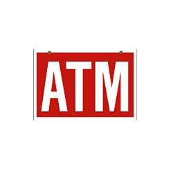 atm hanging sign