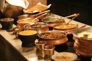 Image of Indian restaurant buffet