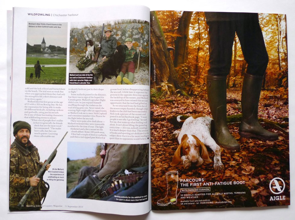 Shooting Times page layout