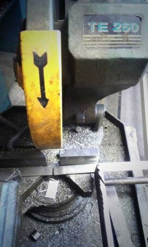 Cutting the metal bars