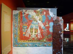 Jaguar-Man. Reproduction of murals from Cacaxtla. Olmeca-Xicalanca (Central Mexican/Maya) 650-700 AD