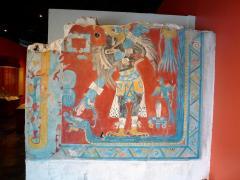 Bird-Man. Reproduction of murals from Cacaxtla. Olmeca-Xicalanca (Central Mexican/Maya) 650-700 AD