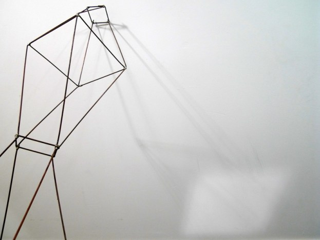 Geometric wire form with mirror reflection