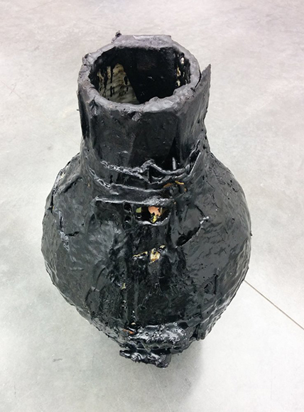 Theaster Gates' tar covered pots