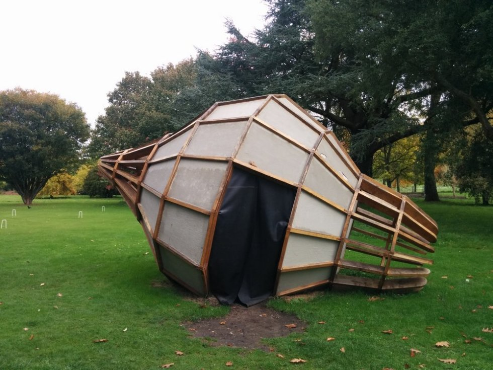 George Charman's 'The Artichoke' in the grounds of West Dean