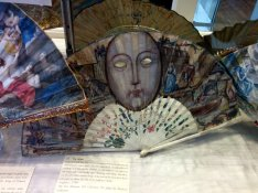 18c English masquerade fan to be used as a mask