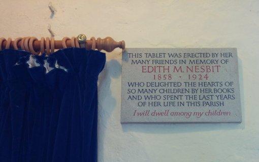 Memorial to E. Nesbit in St Mary in the Marsh