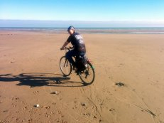 Cycling on the sand!