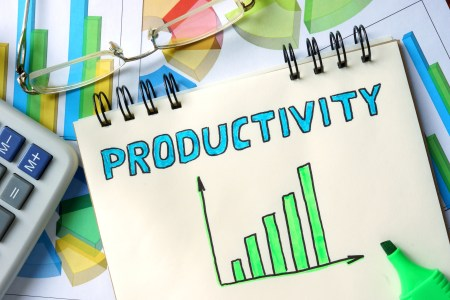 productivity chart on note pad