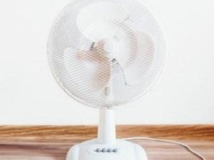 fan on desk
