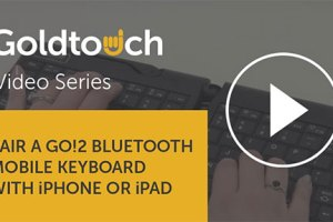 How to pair your Go!2 Mobile Keyboard with your iPhone or iPad
