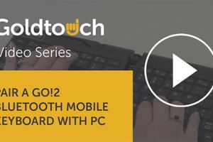 How to pair your Goldtouch Go!2 Bluetooth Mobile Keyboard with your PC