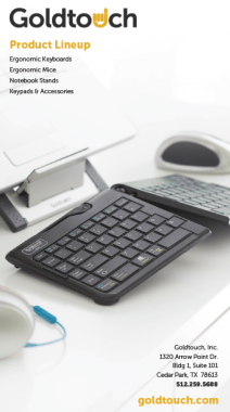 ergonomic keyboard, mouse and product catalog