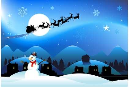 Santa's sleigh drawing
