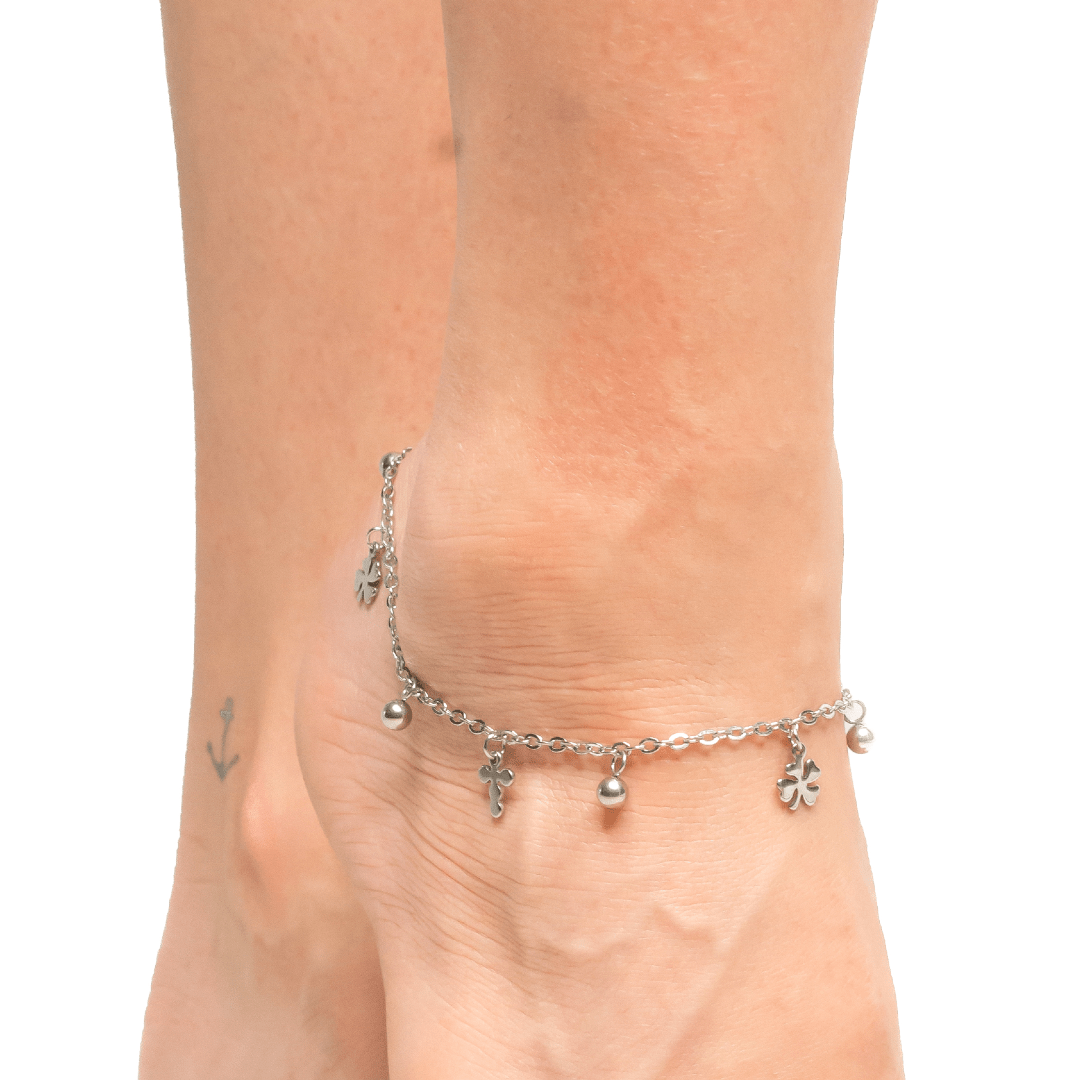 Anklet with Metal Cross