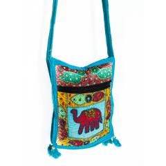 Crossbody Bag Blue Elephant